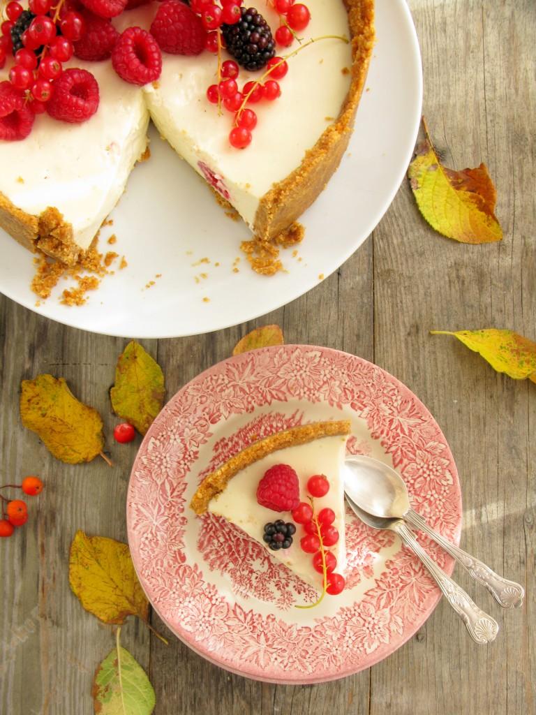 No-bake cheesecake. Nekeptas surio pyragas