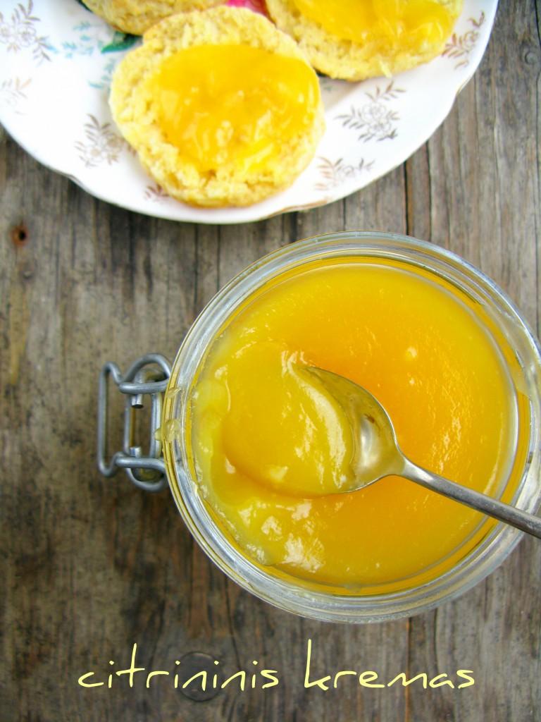 Citrininis kremas. Lemon curd