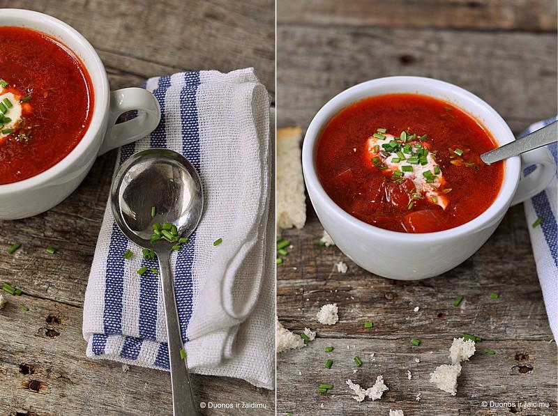 Burokeliu ir pomidoru sriuba