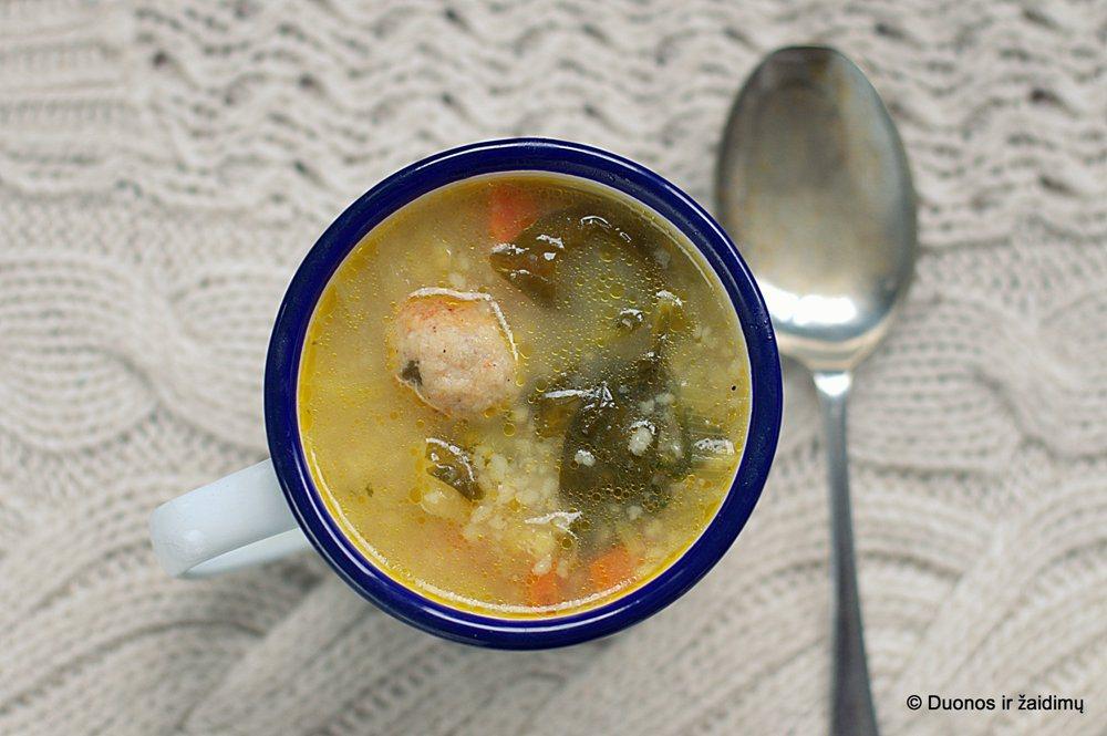 Vistienos maltinuku sriuba su kuskusu
