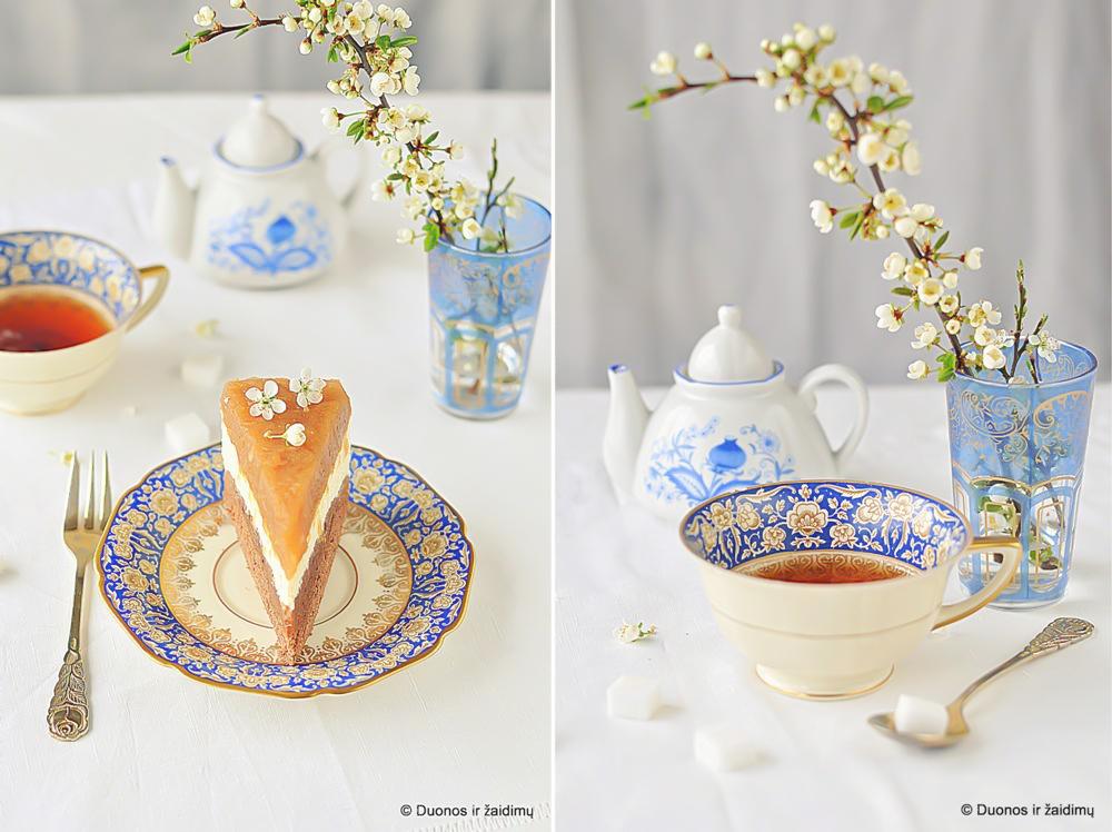 Obuoliu ir surio pyragas