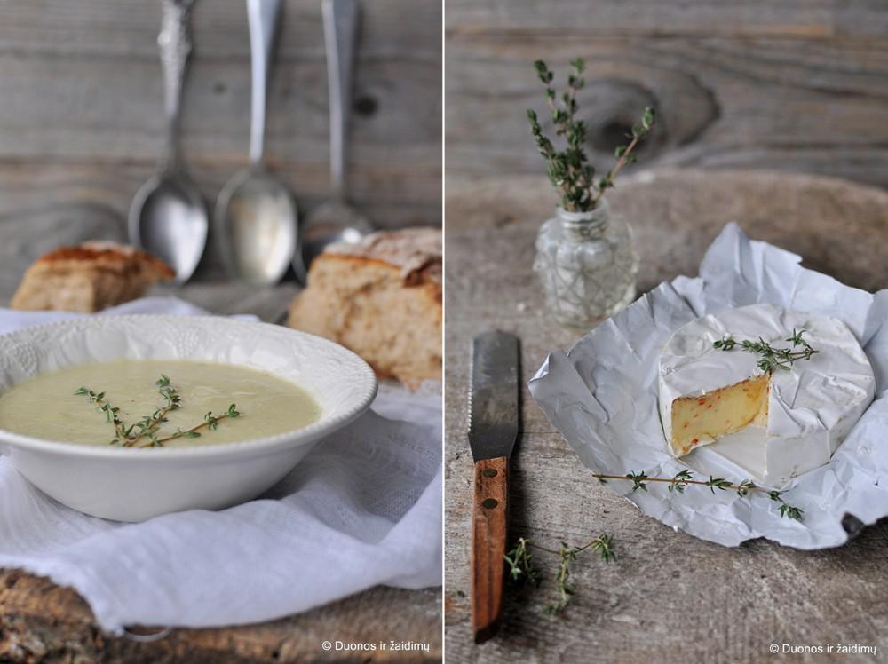 Ziediniu kopustu sriuba su kamamberu